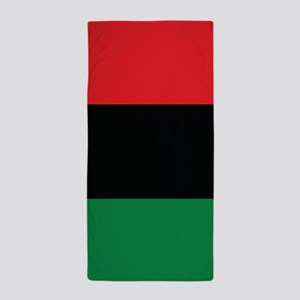 The Red, Black and Green Flag Beach Towel