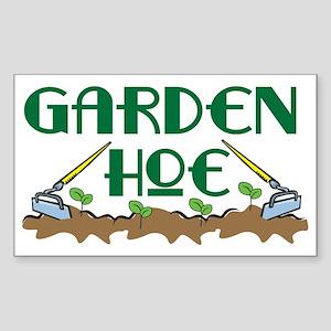 Garden Hoe Rectangle Sticker