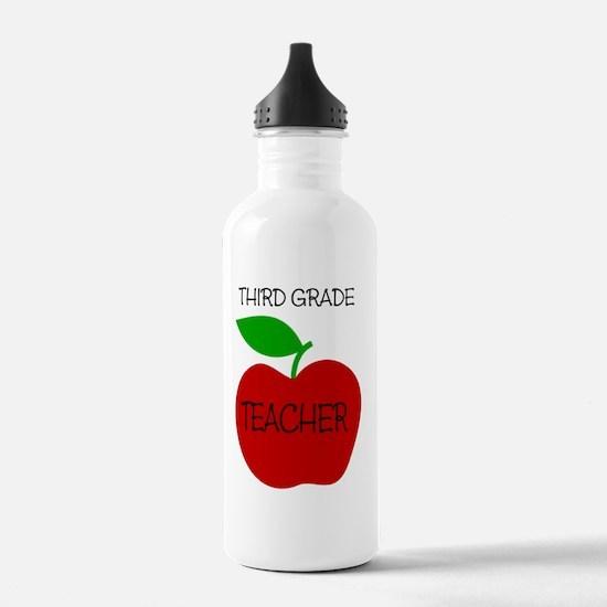 Funny 3rd grade teacher Water Bottle