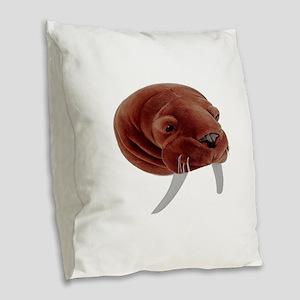 WALRUS Burlap Throw Pillow