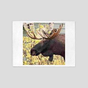 Moose 5'x7'Area Rug