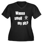 BBQ - Wanna Smell My Pit? Women's Plus Size V-Neck