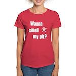 BBQ - Wanna Smell My Pit? Women's Dark T-Shirt