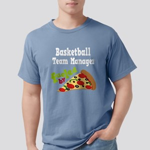 Basketball Team Manager Funny Pizza Women's Dark T