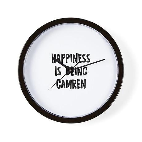 Happiness is being Camren Wall Clock