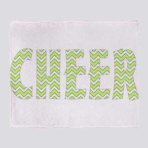 Yellow Chevron Cheer Throw Blanket