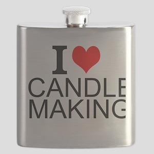 I Love Candle Making Flask