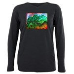 Green Mountains Plus Size Long Sleeve Tee