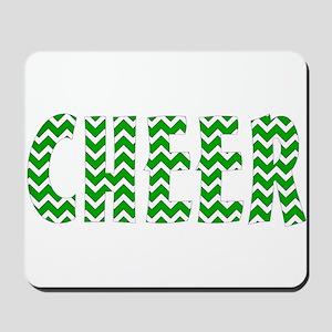 Green Chevron Cheer Mousepad