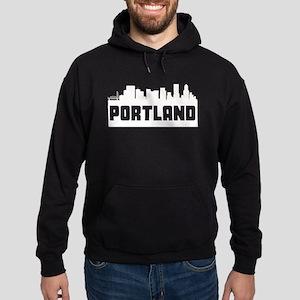 Portland Oregon Skyline Hoodie