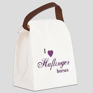 Haflinger horses Canvas Lunch Bag