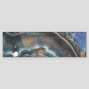 abstract aqua blue agate Bumper Sticker