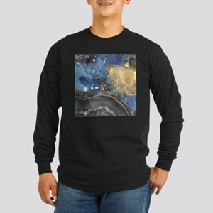 abstract aqua blue agate Long Sleeve T-Shirt