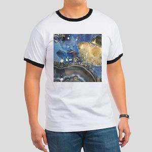 abstract aqua blue agate T-Shirt