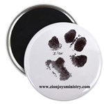 """Zion Paw Print2.25"""" Magnet (10 pack)"""