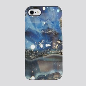 abstract aqua blue agate iPhone 8/7 Tough Case