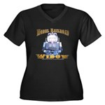 Model RR Widow Women's Plus V-Neck Dark T-Shirt