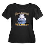 Model RR Widow Women's Plus Size Neck Dark T-Shirt