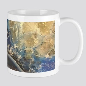 abstract aqua blue agate Mugs