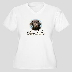 Chocoholic Women's Plus Size V-Neck T-Shirt