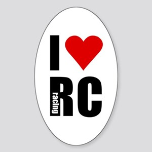 I love RC racing Oval Sticker