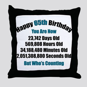 65 'Years' Old Throw Pillow