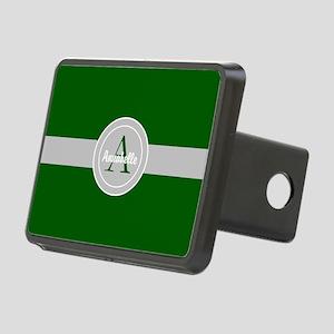 Dark Green Gray Monogram Personalized Rectangular