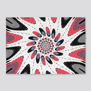 High contrast twirl 5'x7'Area Rug