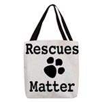 Rescues Matter Polyester Tote Bag
