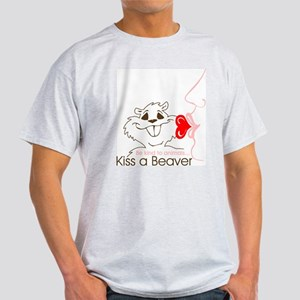 Kiss a Beaver (Lt Men's Tee)