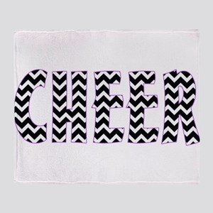 Black Cheer Chevron Throw Blanket