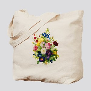 Redoute Summer Rose Bouquet Tote Bag