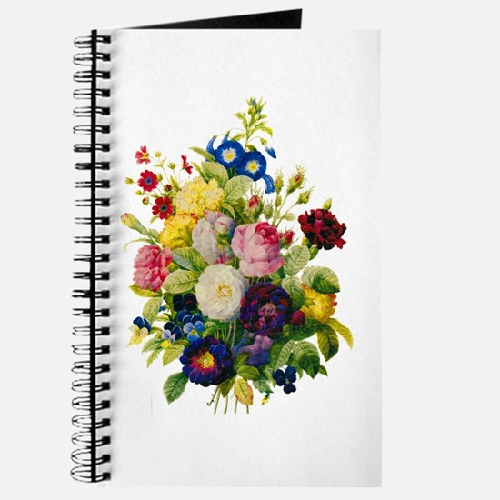 Redoute Summer Rose Bouquet Journal