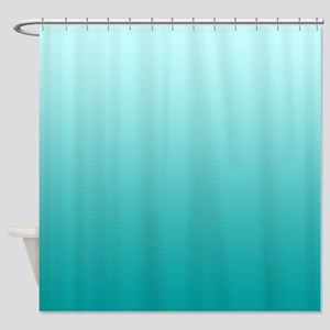 ocean beach seafoam ombre Shower Curtain