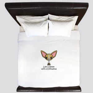 Life is Better with a Chihuahua King Duvet