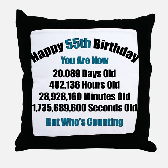 55 'Years' Old Throw Pillow