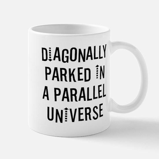 Diagonally Parked Small Mugs