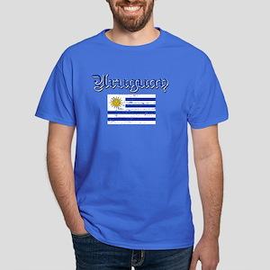 Uruguayan Flag Dark T-Shirt