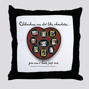 Chihuahuas - like chocolates Throw Pillow