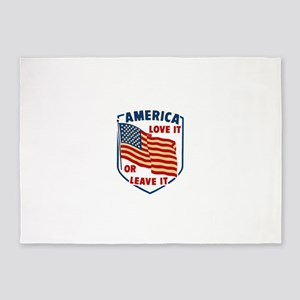 America Love it 5'x7'Area Rug