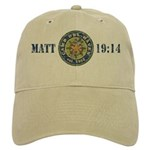 Del-Haven Matt. 19:14 Distressed Logo Cap