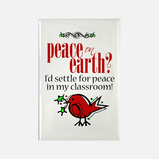 Peace in the Classroom Rectangle Magnet