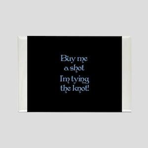 Buy Me A Shot (Blue) Rectangle Magnet