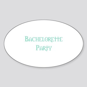 Bachelorette Party (Pale Gree Oval Sticker