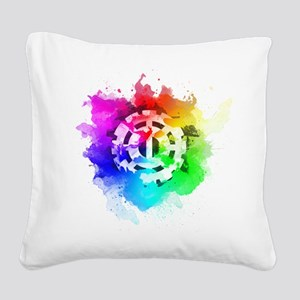 The 100 Heda (Pride Version) Square Canvas Pillow