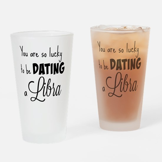 Lucky dating Libra Drinking Glass