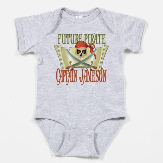 Unique Pirate personalized Baby Bodysuit