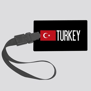 Turkey: Turkish Flag & Turkey Large Luggage Tag