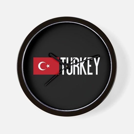 Turkey: Turkish Flag & Turkey Wall Clock
