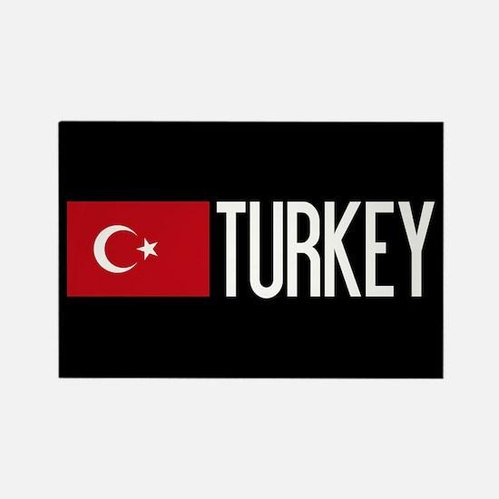 Turkey: Turkish Flag & Turkey Rectangle Magnet